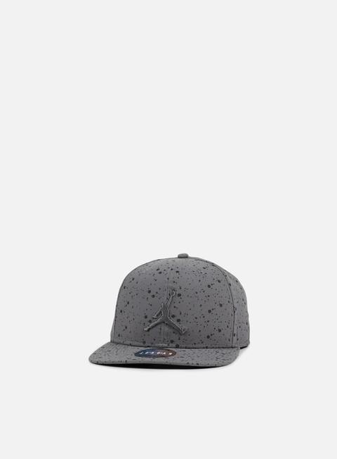 cappellini jordan speckle print snapback dark grey black
