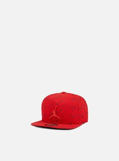 Jordan - Speckle Print Snapback, Gym Red/Black