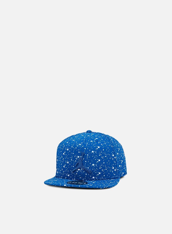 Jordan - Speckle Print Snapback, Team Royal/White
