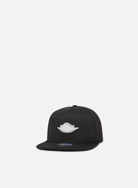 cappellini jordan wings strapback black white