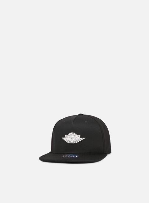 cappellini jordan wings strapback black white