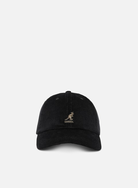 Curved Brim Caps Kangol Cord Baseball Cap