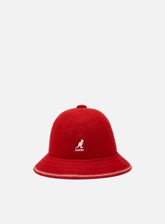 Kangol - Stripe Casual Bucket, Red/Off White