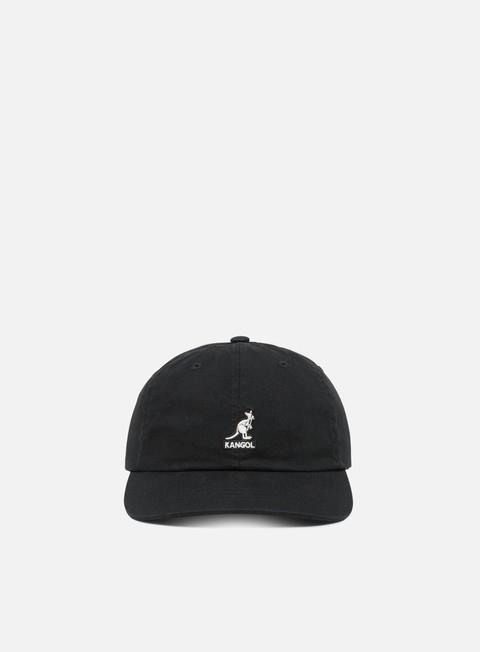 Curved Brim Caps Kangol Washed Baseball Cap