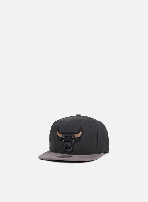 cappellini mitchell e ness buttery snapback chicago bulls grey