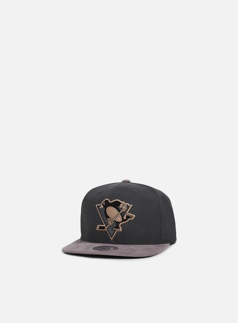 cappellini mitchell e ness buttery snapback pittsburgh penguins grey