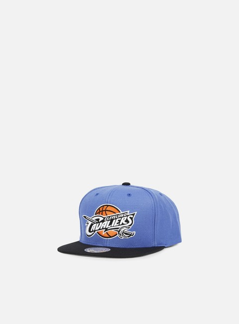 cappellini mitchell e ness current throwback snapback cleveland cavaliers blue black