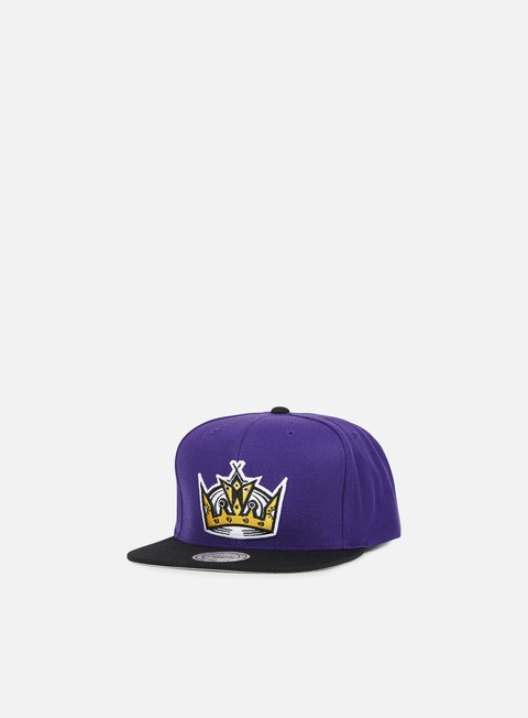 cappellini mitchell e ness current throwback snapback la kings purple black