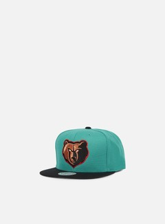 Mitchell & Ness - Current Throwback Snapback Memphis Grizzlies, Teal/Black 1