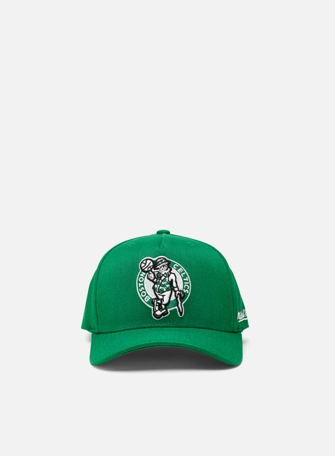 Curved Brim Caps Mitchell & Ness Dropback Solid Redline Snapback Boston Celtics