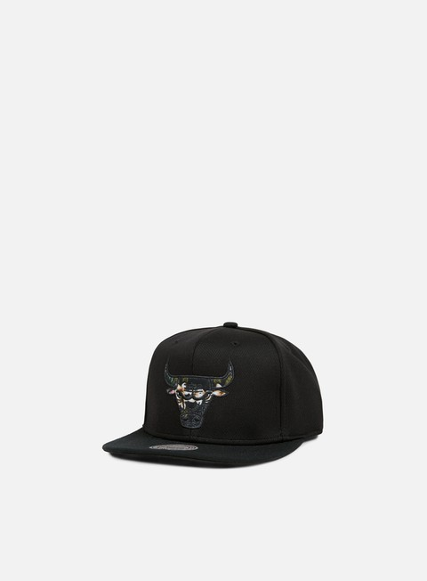 cappellini mitchell e ness floral infill snapback chicago bulls black