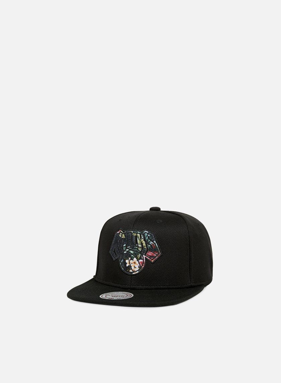 hot sales a0450 335cd Mitchell   Ness Floral Infill Snapback NY Knicks