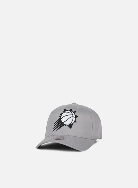 Curved Brim Caps Mitchell & Ness Gull Grey Snapback Phoenix Suns