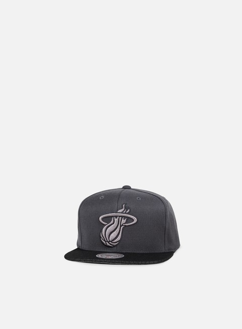 cappellini mitchell e ness hologram mesh stop on a dime snapback miami heat charcoal