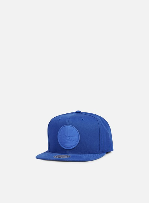 cappellini mitchell e ness hot stamp snapback golden state warriors royal