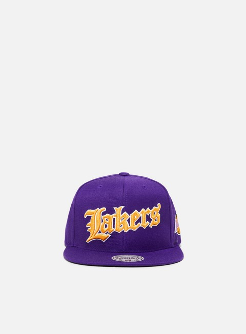 Mitchell & Ness NBA Old English Faded Snapback Los Angeles Lakers
