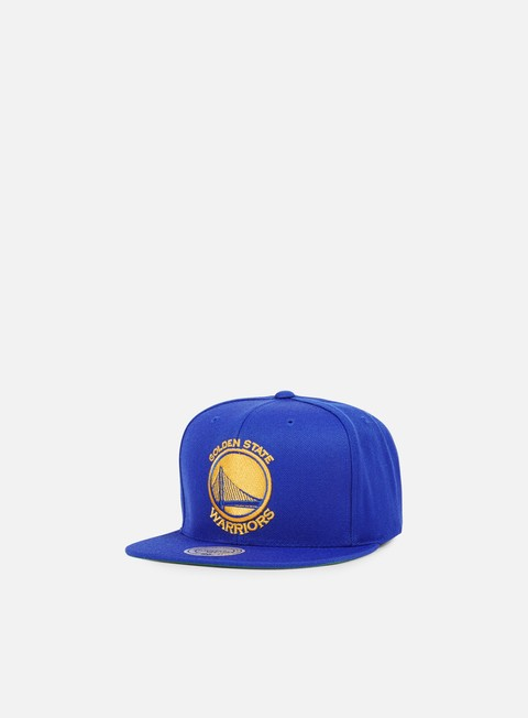 cappellini mitchell e ness solid team snapback golden state warriors blue