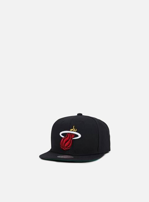 cappellini mitchell e ness solid team snapback miami heat black