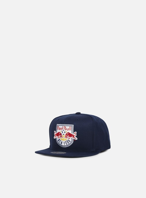 cappellini mitchell e ness solid team snapback ny red bulls navy