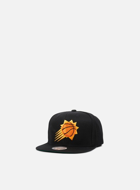cappellini mitchell e ness solid team snapback phoenix suns black
