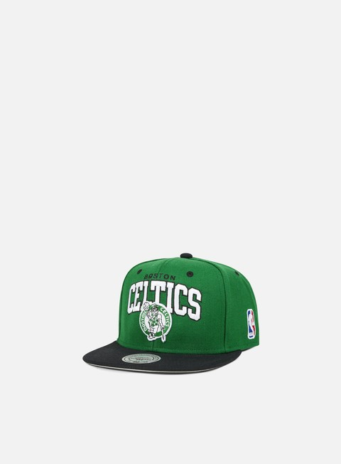 cappellini mitchell e ness team arch snapback boston celtics team colors