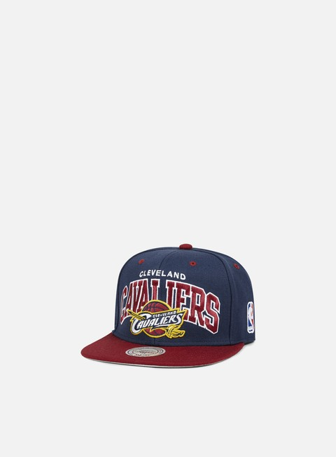 cappellini mitchell e ness team arch snapback cleveland cavaliers team colors