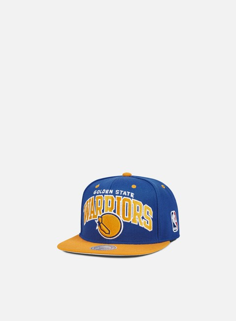 cappellini mitchell e ness team arch snapback golden state warriors team colors