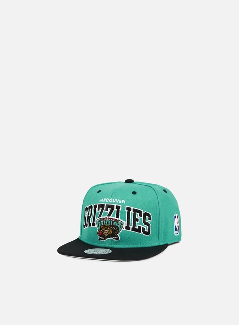 cappellini mitchell e ness team arch snapback vancouver grizzlies team colors