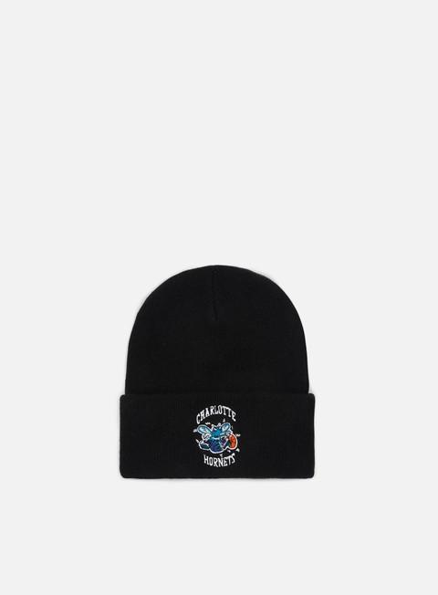 cappellini mitchell e ness team logo cuff knit beanie charlotte hornets black