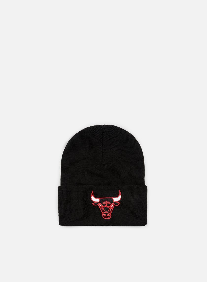 Mitchell & Ness - Team Logo Cuff Knit Beanie Chicago Bulls, Black