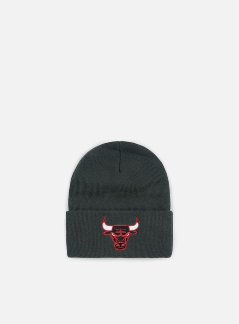 cappellini mitchell e ness team logo cuff knit beanie chicago bulls charcoal