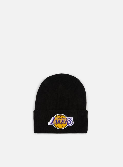cappellini mitchell e ness team logo cuff knit beanie la lakers black