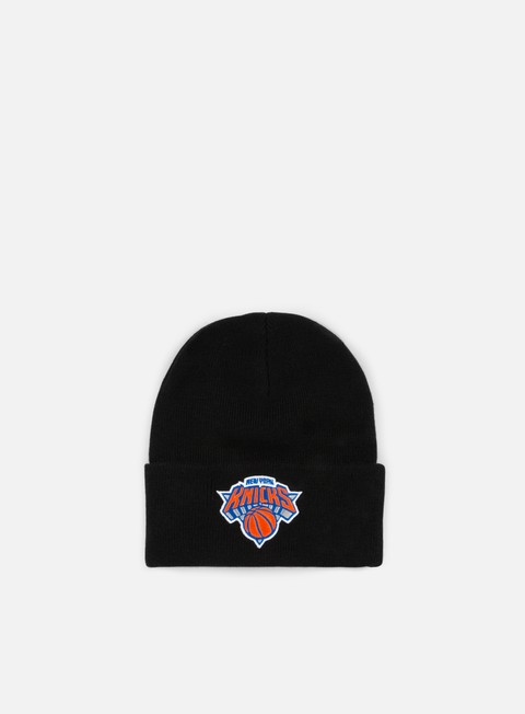 cappellini mitchell e ness team logo cuff knit beanie ny knicks black