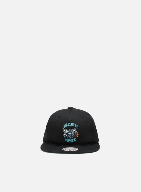 Mitchell & Ness Team Logo Deadstock Throwback Snapback Charlotte Hornets