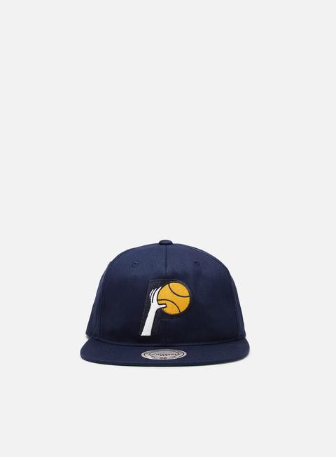Outlet e Saldi Cappellini Snapback Mitchell & Ness Team Logo Deadstock Throwback Snapback Indiana Pacers