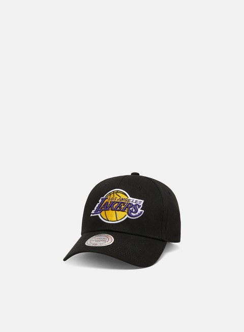 Curved Brim Caps Mitchell & Ness Team Logo Low Pro 110 Snapback LA Lakers