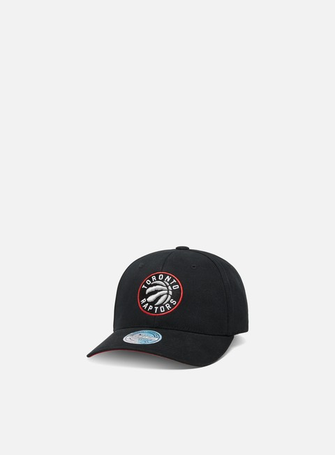 Curved Brim Caps Mitchell & Ness Team Logo Low Pro 110 Snapback Toronto Raptors
