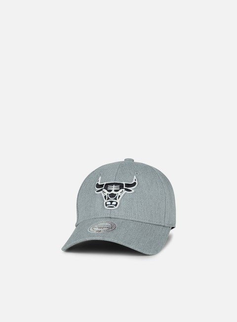 cappellini mitchell e ness team logo low pro strapback chicago bulls grey heather