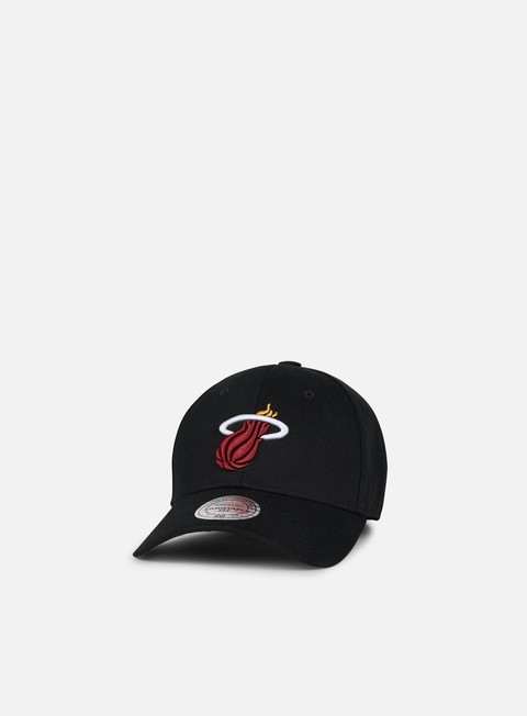 cappellini mitchell e ness team logo low pro strapback miami heat black