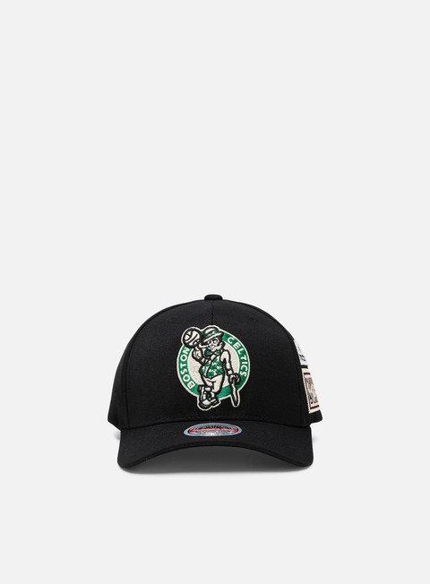 Curved Brim Caps Mitchell & Ness The Jockey Redline Snapback Boston Celtics