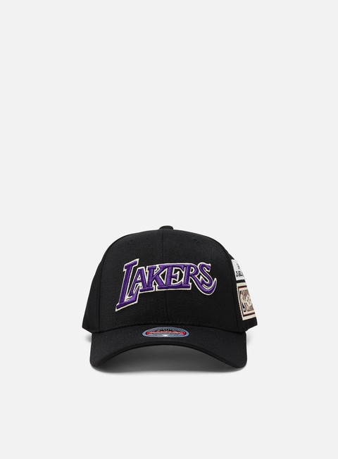 Curved Brim Caps Mitchell & Ness The Jockey Redline Snapback LA Lakers