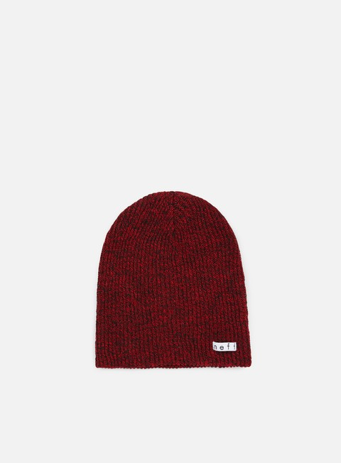 cappellini neff daily heather beanie black red