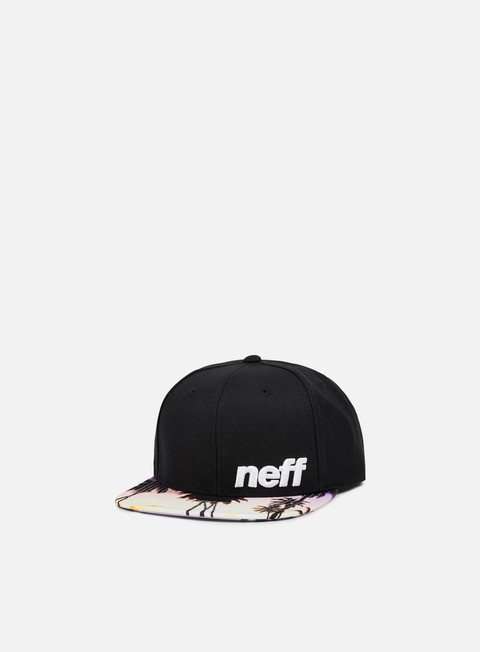 cappellini neff daily pattern snapback black sunset