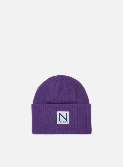cappellini new black classic beanie purple