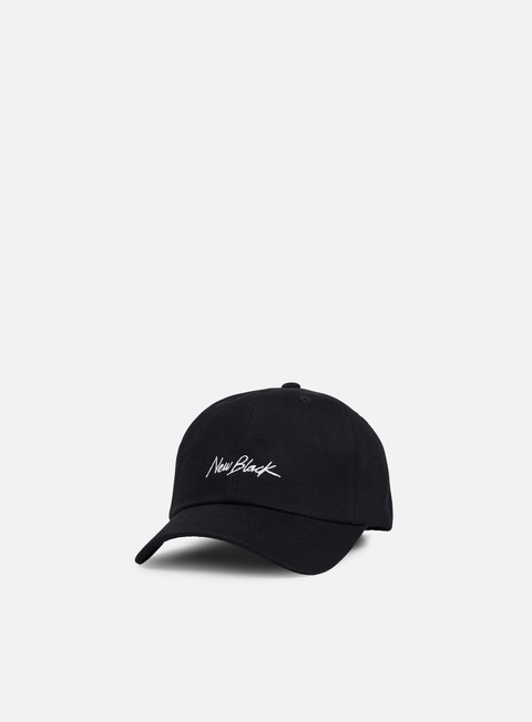 Sale Outlet Curved Brim Caps New Black Signature Baseball Cap