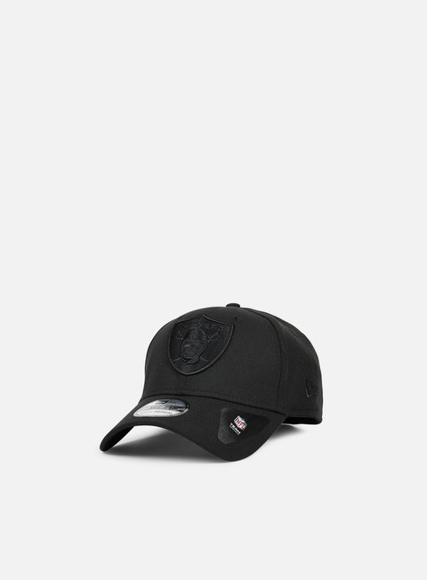 cappellini new era 39thirty bob team poly oakland raiders black black