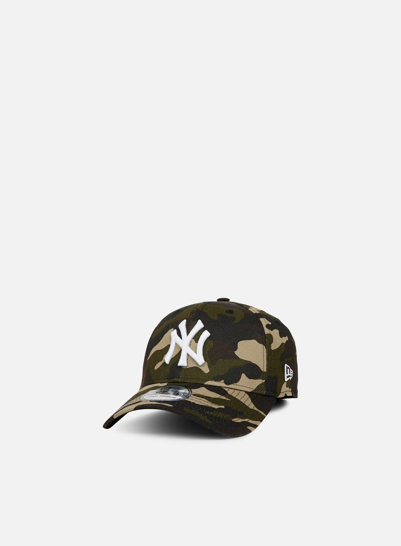 New Era - 39Thirty MLB League Essential NY Yankees, Woodland Camo/White