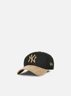 New Era - 39Thirty Poly Suede Mix NY Yankees, Black/Wheat