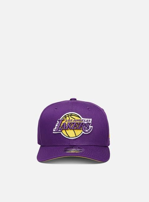 Outlet e Saldi Cappellini con visiera New Era 9Fifty Stretch Snapback LA Lakers
