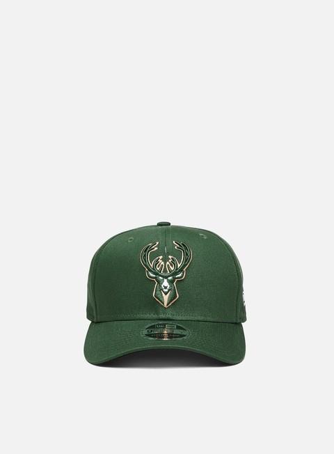 Cappellini con visiera New Era 9Fifty Stretch Snapback Milwaukee Bucks
